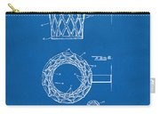 1951 Basketball Net Patent Artwork - Blueprint Carry-all Pouch by Nikki Marie Smith