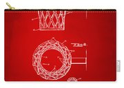 1951 Basketball Net Patent Artwork - Red Carry-all Pouch by Nikki Marie Smith