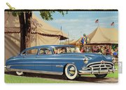 1951 Hudson Hornet - Square Format - Antique Car Auto - Nostalgic Rural Country Scene Painting Carry-all Pouch