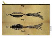 1952 Fish Lure Patent Carry-all Pouch