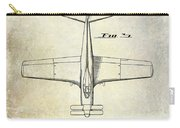 1955  Airplane Patent Drawing 2 Carry-all Pouch