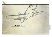 1955  Airplane Patent Drawing Carry-all Pouch