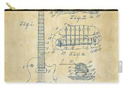 1955 Mccarty Gibson Les Paul Guitar Patent Artwork Vintage Carry-all Pouch