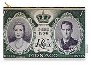 1956 Princess Grace Of Monaco Stamp II Carry-all Pouch