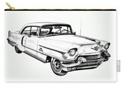 1956 Sedan Deville Cadillac Car Illustration Carry-all Pouch