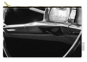 1957 Chevrolet Belair Steering Wheel Black And White Carry-all Pouch
