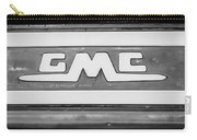1957 Gmc Pickup Truck Tail Gate Emblem -0272bw2 Carry-all Pouch