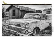 1958 Chevy Del Ray In Black And White Carry-all Pouch