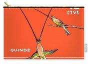 1958 Ecuador Hummingbirds Postage Stamp Carry-all Pouch