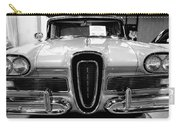 1958 Edsel Pacer Black And White Carry-all Pouch