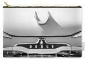 1959 Dodge Coronet Emblem - Hood Ornament -0903bw Carry-all Pouch
