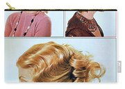 1960 70 Stylish Female Hair Styles Golden Blond Carry-all Pouch