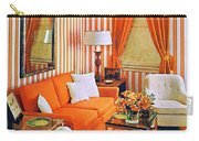 1960 70 Stylish Living Room Advertisement Orange And Stripes Groovy Baby Carry-all Pouch