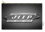 1960 Forward Control Jeep Fc-170 Emblem -1669bw Carry-all Pouch