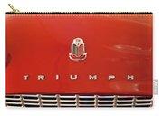 1960 Triumph Tr3 Emblem Carry-all Pouch
