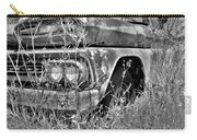 1961 Chevrolet Apache 10 Black And White 4 Carry-all Pouch