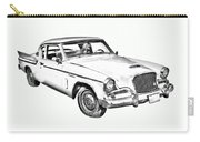1961 Studebaker Hawk Coupe Illustration Carry-all Pouch