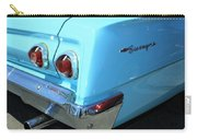 1962 Chevy - Chevrolet Biscayne Logos And Tail Lights Carry-all Pouch