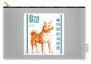 1962 Korea Jindo Dog Postage Stamp Carry-all Pouch