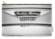 1963 Austin-healey 3000 Mk II Black And White Carry-all Pouch