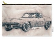 1963 Chevrolet Corvette Sting Ray - 1963 - Automotive Art - Car Posters Carry-all Pouch
