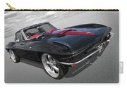 1963 Corvette Stingray Split Window In Black And Red Carry-all Pouch