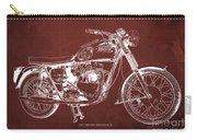1963 Triumph Bonneville, Blueprint Red Background Carry-all Pouch