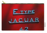 1965 Jaguar E Type Emblem Carry-all Pouch