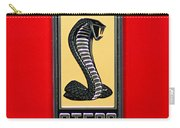 1967 Ford Shelby Gt 500 Cobra Fender Emblem On Red Carry-all Pouch