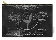 1967 Lawn Mower Patent Illustration Carry-all Pouch