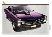 1967 Purple Pontiac Gto Carry-all Pouch