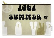 1967 Summer Of Love Newspaper Carry-all Pouch