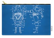 1968 Hard Space Suit Patent Artwork - Blueprint Carry-all Pouch by Nikki Marie Smith
