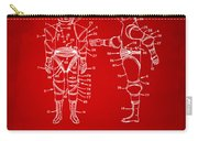 1968 Hard Space Suit Patent Artwork - Red Carry-all Pouch