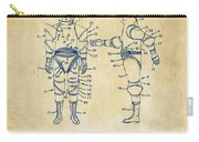 1968 Hard Space Suit Patent Artwork - Vintage Carry-all Pouch