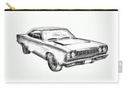 1968 Plymouth Roadrunner Muscle Car Illustration Carry-all Pouch