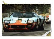 1969 24 Hours Of Le Mans Ford Gt40 First Place, Mixed Media  Carry-all Pouch
