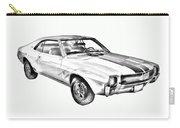 1969 Amc Javlin Car Illustration Carry-all Pouch