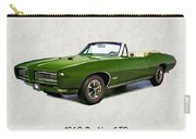 1969 Green Pontiac Gto Convertible Carry-all Pouch
