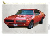 1969 Red Pontiac Gto The Judge Carry-all Pouch