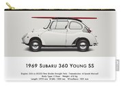 1969 Subaru 360 Young Ss - Creme Carry-all Pouch