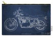 1969 Triumph Bonneville Blueprint Blue Background Carry-all Pouch