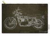 1969 Triumph Bonneville Blueprint Brown Background Carry-all Pouch