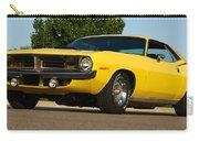 1970 Hemi 'cuda - Lemon Twist Yellow Carry-all Pouch