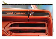 1970 Plymouth Road Runner - Vitamin C Orange Carry-all Pouch by Gordon Dean II