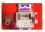 1970s Wind Up Dancing Robot Carry-all Pouch