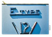 1972 Jaguar E-type V12 Roadster Emblem Carry-all Pouch