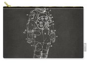 1973 Astronaut Space Suit Patent Artwork - Gray Carry-all Pouch