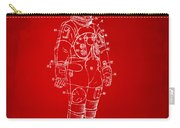 1973 Astronaut Space Suit Patent Artwork - Red Carry-all Pouch by Nikki Marie Smith