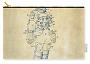 1973 Astronaut Space Suit Patent Artwork - Vintage Carry-all Pouch